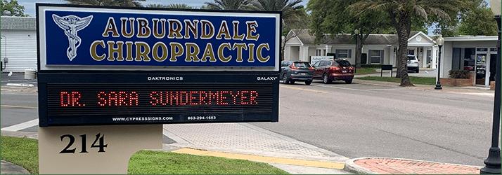 Chiropractic Auburndale FL Auburndale Chiropractic Office Sign